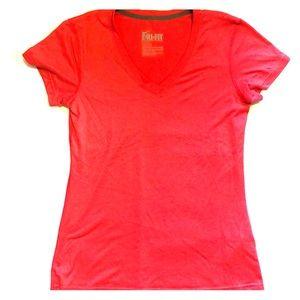 Nike Dri-fit Short Sleeve Pink V-neck
